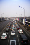 Overpass, the highway, traffic flow Royalty Free Stock Photos
