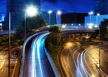 Overpass of the light trails Stock Image