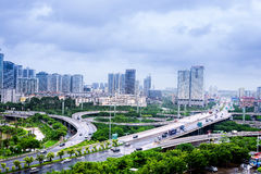 Overpass in modern city,Nanning,China Royalty Free Stock Photography