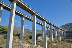 Overpass in the mountains Stock Photos