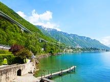 Overpass near Geneva lake Stock Photo