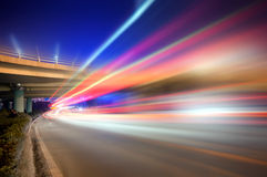 Overpass Night Royalty Free Stock Photo