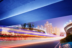 Overpass Night. Overpass at night, heavy traffic Royalty Free Stock Photos