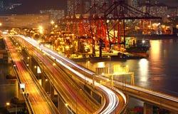Overpass at night Royalty Free Stock Photos