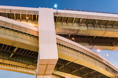 Overpass in Osaka. At night time Stock Photography