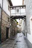 Overpass in Pamplona old town Stock Photography