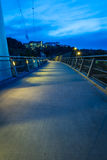 Overpass in Portland Oregon. At night with a slow shutter speed for a blurred motion effect Stock Image