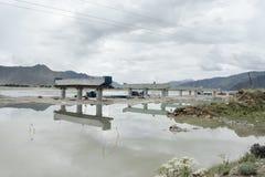 Overpass road under reconstruction Stock Photos