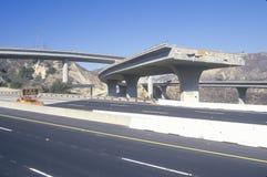 Overpass som kollapsade på huvudväg 10 Royaltyfria Foton