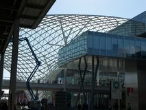 overpass tensile structure in Milano Rho exhibition center