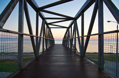 Overpass to the beach at sunrise Royalty Free Stock Photos