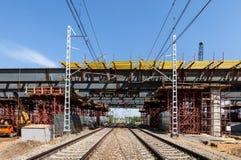 Overpass under railways Royalty Free Stock Photography