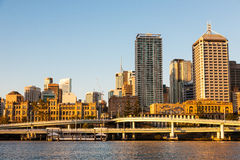 Overpasses with Cityscape of Brisbane city Royalty Free Stock Photo