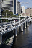 Overpasses, curves and slipways Brisbane River Stock Photo