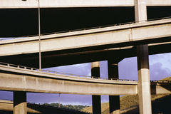 Overpasses and underpasses crossing Stock Images