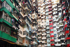 Overpopulated residential building in Hong Kong Royalty Free Stock Images