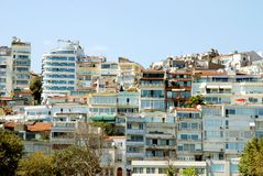 Overpopulation. Overpopulated cityscape symbolizing harsh housing situation Stock Photography