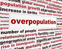 Overpopulation global problem creative poster. Modern civilization population issue conceptual background Royalty Free Stock Photography