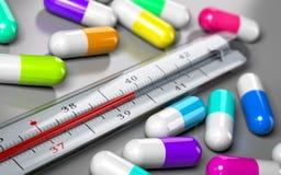 Overprescription, uso antibiótico excesivo Imagenes de archivo