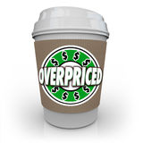 Overpriced Coffee Cup Expensive Costly Drink Too High Cost Royalty Free Stock Images