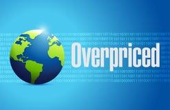 Overpriced international globe sign Stock Images