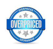 Overpriced seal sign concept illustration Royalty Free Stock Photos