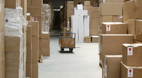 Overproduction and warehouse Royalty Free Stock Images