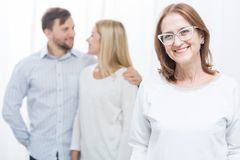 Overprotective mother-in-law Stock Photos