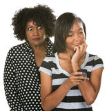 Overprotective Mother with Teen Stock Photography