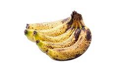 Overrijpe bananen Royalty-vrije Stock Afbeeldingen