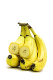Overripe bananas. On a light background royalty free stock photography