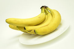 Overripe bananas. On a light background royalty free stock photos