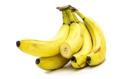 Overripe bananas. On a light background royalty free stock images