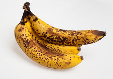 Overripe bananas lying one on another Stock Image
