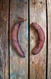 Overripe, rotten and black banana Royalty Free Stock Photos