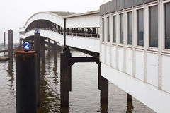 Oversea pier in Hamburg Royalty Free Stock Photo