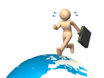 Overseas business trip. Businessmen who travel all over the world. Overseas business trip Stock Image