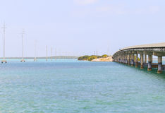 The Overseas Highway in Florida Stock Photography