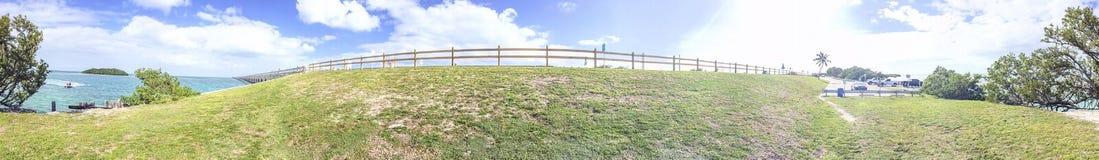 Overseas highway panoramic view, FL Stock Photography