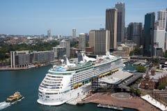 Overseas Passenger Terminal and Sydney Skyline Stock Photo