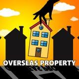 Overseas Property Indicating Worldwide Apartments 3d Illustratio. Overseas Property House Indicating Worldwide Apartments 3d Illustration Stock Photography