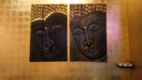 Overseeing buddhas Stock Image