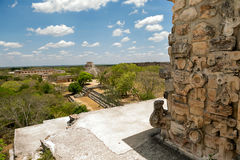 Overseeing Uxmal from top of pyramide Stock Photography