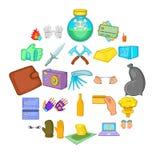 Oversight icons set, cartoon style. Oversight icons set. Cartoon set of 25 oversight vector icons for web isolated on white background Royalty Free Stock Photos