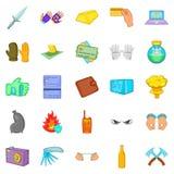 Oversight icons set, cartoon style. Oversight icons set. Cartoon set of 25 oversight vector icons for web  on white background Royalty Free Stock Photo