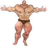 Oversize bodybuilder Stock Photography
