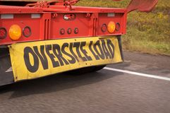 Oversize Load Royalty Free Stock Photo