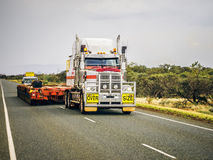 Oversize load ahead Stock Photo