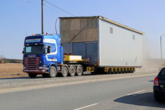 Oversize Load on the Road Stock Photography