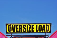 Oversize Load Sign Royalty Free Stock Images